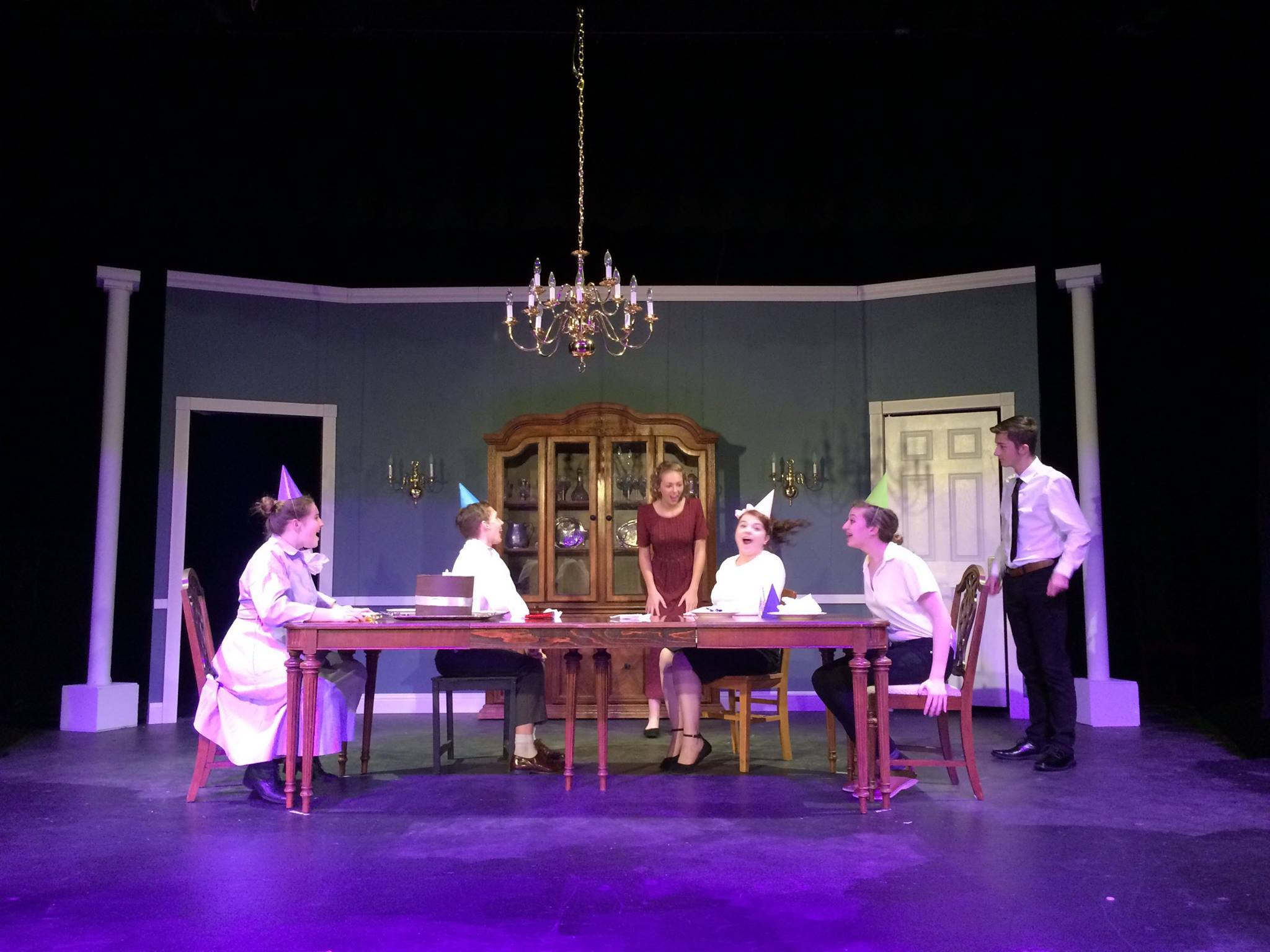 La center high school theatre presents the dining room la center school district - Dining room play ...