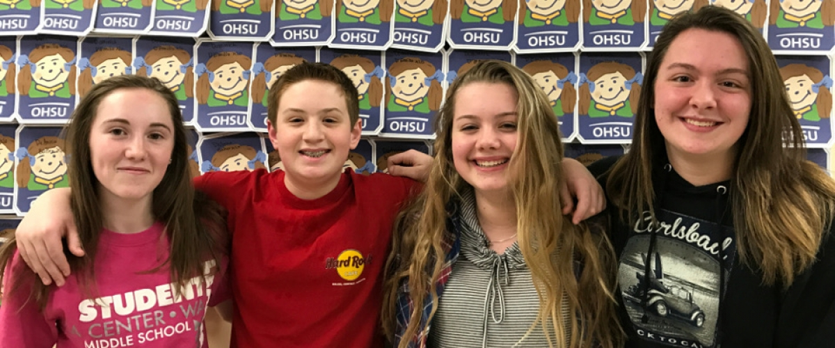 MS Students raised over $10,000 this year for the Doernbecher Children's Hospital