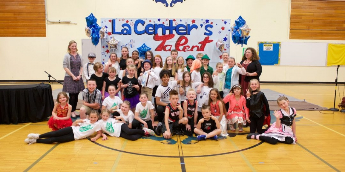 La Center Elementary Talent Show Group Photo