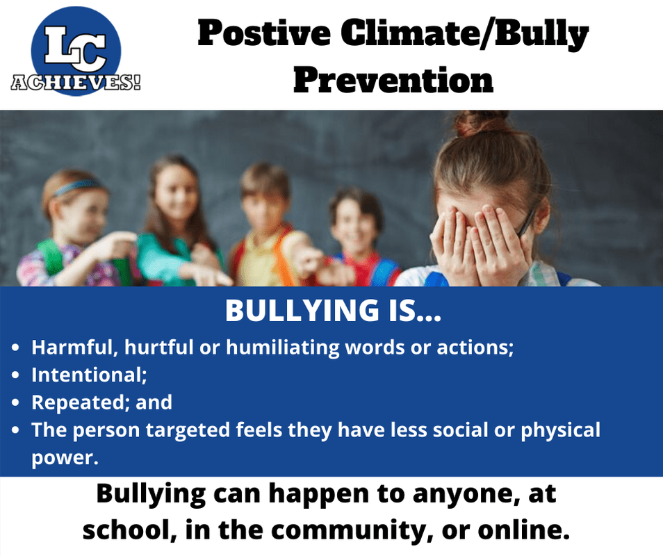 Positive Climate/Bully Prevention - Bullying Definition Slide