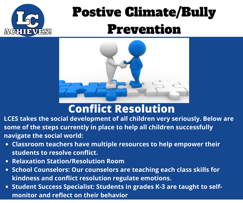 Positive Climate/Bully Prevention - Conflict Resolution Slide