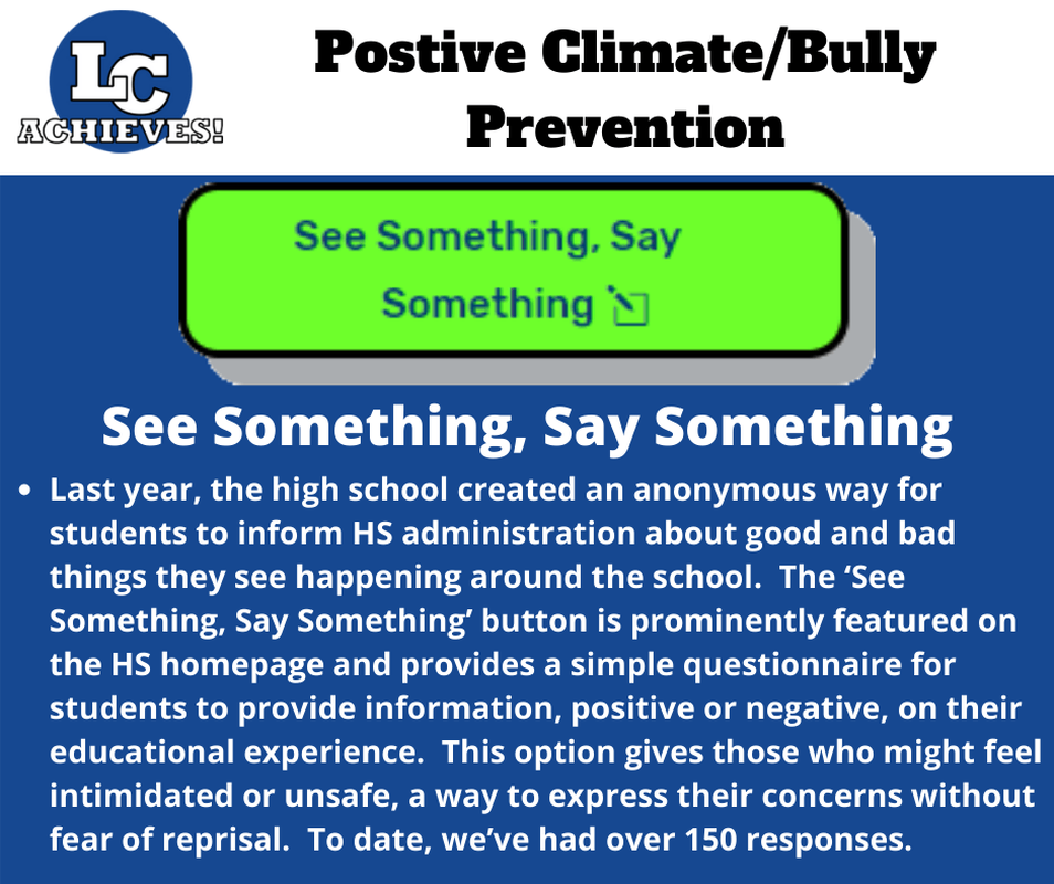 Positive Climate/Bully Prevention - See Something, Say Something Slide