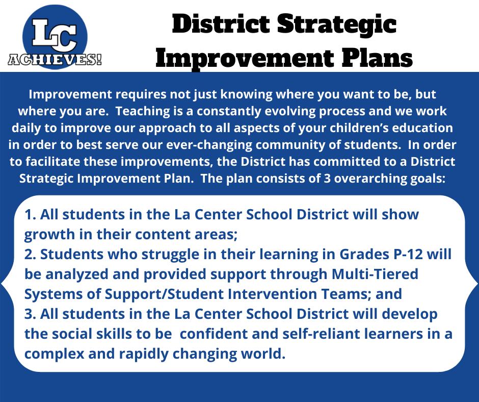 District Improvement Goals Listing